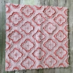 Boho Raw Edge pillow sham cover peach coral salmon